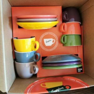 Goppion-Tasse-Geschenkbox-SET-6 Farben-single Espresso