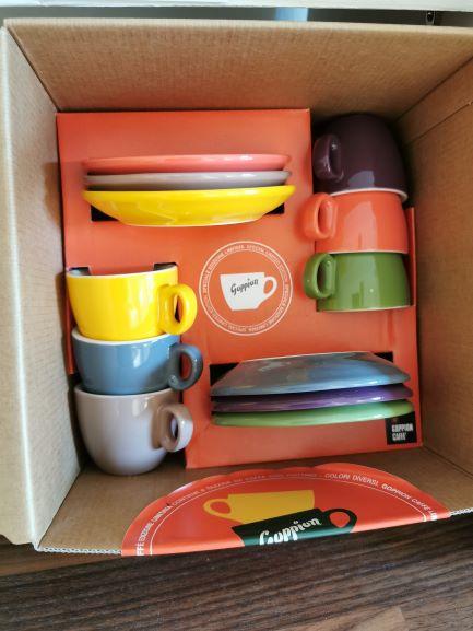 Goppion-Tasse-Geschenkbox-SET-6 Farben-single Espresso